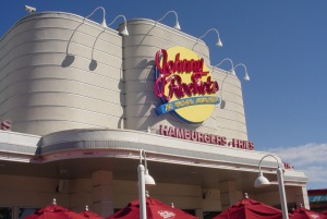 Johnny Rockets Restaraunt with Max Air web cam on roof